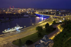 Szczecin (Stettin) City at night, Poland. Stock Photography
