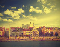 Szczecin (Stettin) City river view, Poland. Stock Photography