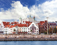 Szczecin (Stettin) City waterfront view Royalty Free Stock Images