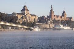 Szczecin (Stettin) stad. Arkivfoto