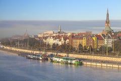 Szczecin (Stettin) stad. Royaltyfria Foton