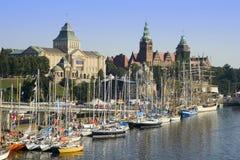 Szczecin Ufergegend Stockbild
