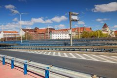 Szczecin, view of the historic architecture of the city from the castle route. Szczecin in Poland, view of the historic architecture of the city from the castle royalty free stock photos