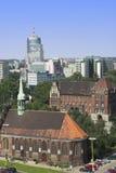 Szczecin von oben Stockfoto