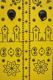 szczegółów drzwiowy gwoździa Tunis kolor żółty Obraz Royalty Free