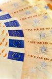 szczegółów euro pięćdziesiąt notatka Zdjęcia Stock