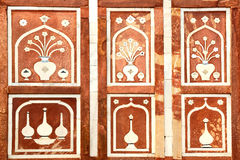 szczegółów intarsi marmuru kamienia powierzchnia zdjęcie royalty free