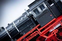 szczegółów lokomotywy model stary zdjęcie stock
