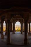 Szczegół ściana Agra fort, Agra, India Zdjęcie Stock