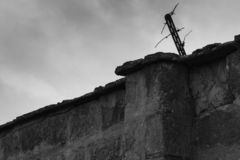 Szczegół ściana Sachsenhausen koncentracyjny obóz obraz stock