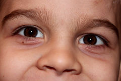 Szczegół śliczna dziecko twarz Zdjęcia Stock