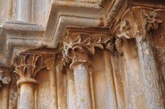 Szczegół średniowieczny portal Fotografia Royalty Free