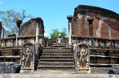 Szczegół świątynia, Antyczny miasto, Polonnaruwa, Srí Lanka Zdjęcia Stock