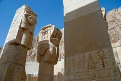 Szczegół świątynia Hatshepsut, Egipt fotografia stock