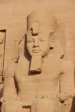 Szczegół świątynia Rameses II abu simbel Egiptu Zdjęcie Stock