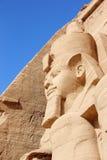 Szczegół świątynia Rameses II abu simbel Egiptu Obraz Royalty Free
