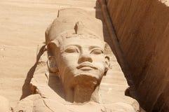 Szczegół świątynia Rameses II abu simbel Egiptu Fotografia Stock