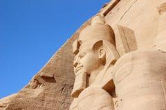 Szczegół świątynia Rameses II abu simbel Egiptu Fotografia Royalty Free