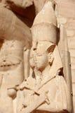 Szczegół świątynia Rameses II abu simbel Egiptu Zdjęcia Stock