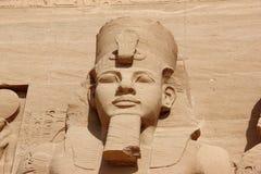 Szczegół świątynia Rameses II abu simbel Egiptu Obrazy Stock