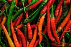 Szczegół świezi chilies obrazy royalty free