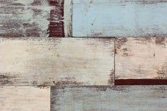 Szczegół abstrakcjonistycznej sztuki koloru drewna ściana Zdjęcie Stock