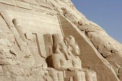 Szczegół Abu Simbel świątynie Zdjęcia Royalty Free