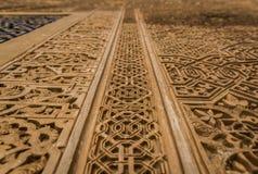 Szczegół Alhambra pałac w Granada, Andalusia, Hiszpania zdjęcia royalty free