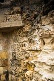 Szczegół antyczna ściana kamień w mieście Matera zdjęcia stock