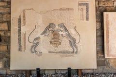 Szczegół antyczna ściana na wystawie obrazy stock