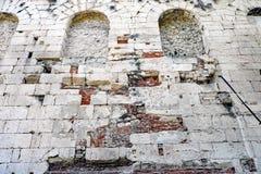 Szczegół Antyczna Romańska architektura, Diocletian ` s pałac, rozłam, Chorwacja fotografia royalty free