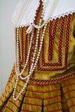 szczegół antyczne i historyczne włoskie suknie zdjęcia royalty free