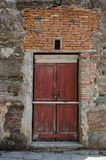 Szczegół antyczny drzwi fotografia stock