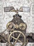 Szczegół antyczny kościół zegar Zdjęcie Royalty Free