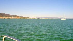 Szczegół arkana, supłający na metal ochronie łódkowaty chodzenie z wybrzeża Ebro delty region w Catalonia zbiory