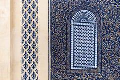 Szczegół Błękitna brama obraz stock