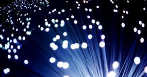 Szczegół błękitna gradientowa narastająca wiązka z blaknie skutek światłowodu tło, technologia szybki lekki sygnał dla wysokiej p zbiory wideo