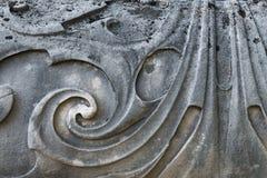 Szczegół Barokowy gatepost z odpłacającymi się wzorami Obrazy Royalty Free