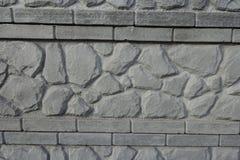 Szczegół betonowa ściana z kamieniem jak wzór Fotografia Stock