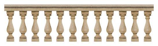 Szczegół betonowa włoska balustrada - bezszwowy deseniowy conce Obraz Stock