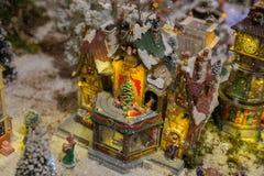 Szczegół Bożenarodzeniowa wioska Fotografia Royalty Free