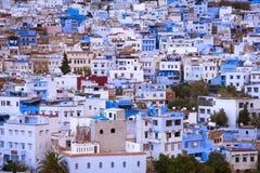 Szczegół budynki w pięknym miasteczku Chefchaouen w Maroko, afryka pólnocna Zdjęcie Royalty Free