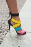 Szczegół buty przy Mediolańskim moda tygodniem Zdjęcie Stock