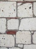 Szczegół ceglany portal w kamiennej ścianie Obraz Stock