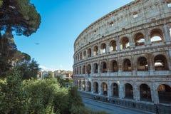 Szczegół Colosseum Rzym w Włochy, Europa fotografia royalty free