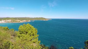 Szczegół Costa Brava w Hiszpania, podpalany los angeles Fosca w 4K zbiory wideo
