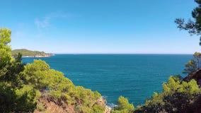 Szczegół Costa Brava w Hiszpania, podpalany los angeles Fosca w 4K zdjęcie wideo