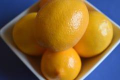 Szczegół cytryny w białym pucharze fotografia stock