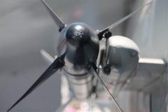 Szczegół czarny pocisk z żebrami na F14 tomcat strumieniu Obraz Royalty Free