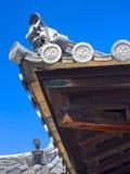 Szczegół dach Kochi kasztel na Shikoku wyspie, Japonia zdjęcie stock